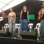 A blend of Pete & the Skiffy Rivets and Pipi Pickers, in the Bluegrass Concert, Auckland Folk Festival 2017