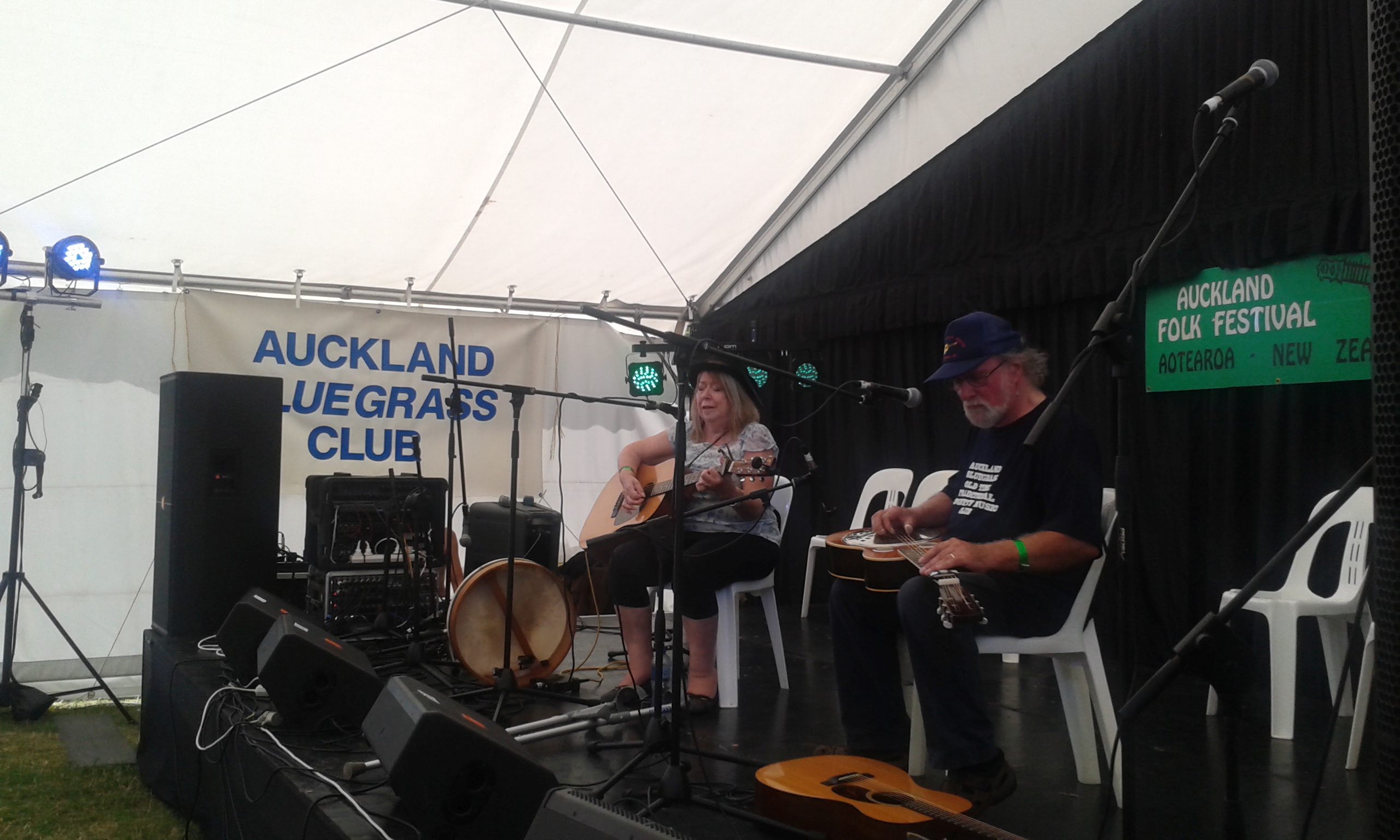 Beverley and Al Young at the Bluegrass Concert, Auckland Folk Festival 2017